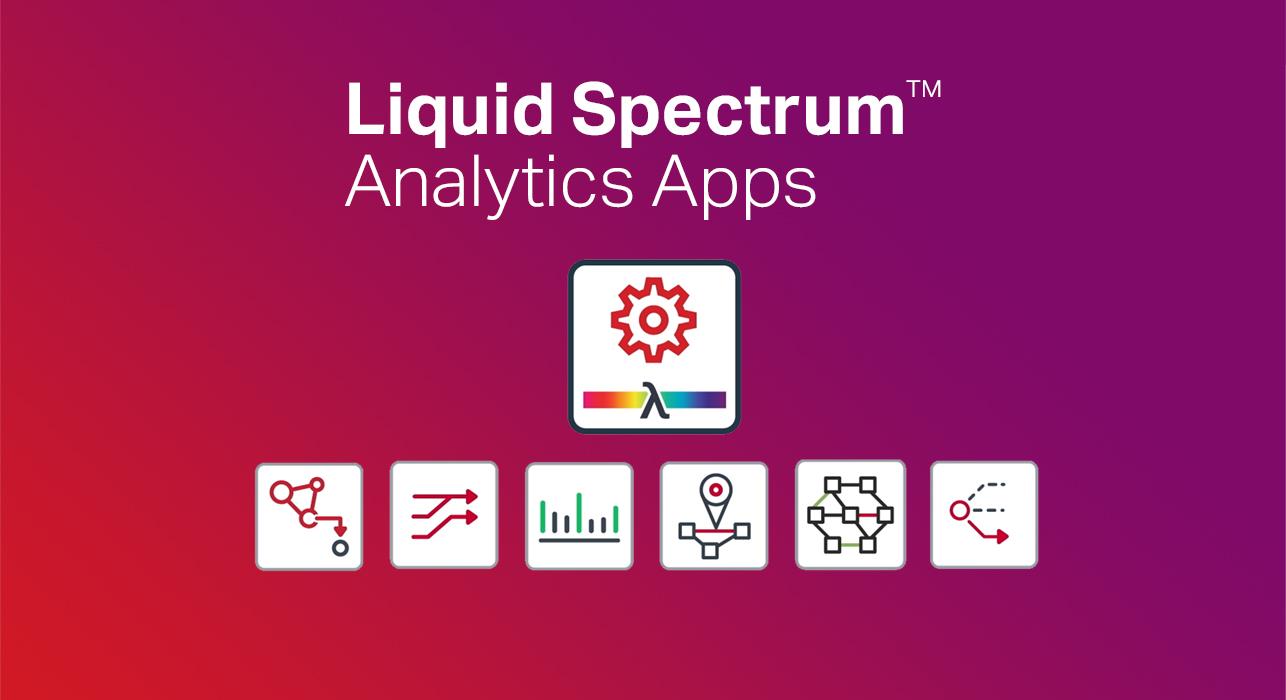 Picture of the different Liquid Spectrum Analytics app icons