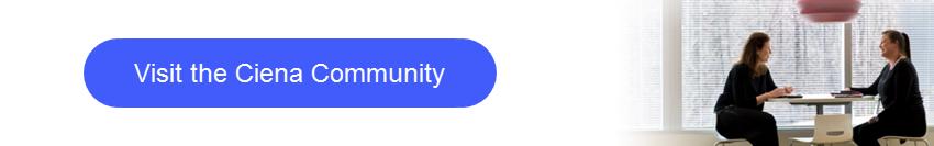Visit Ciena community button