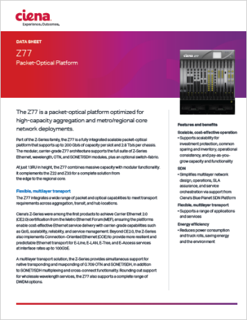 Z77 Packet-Optical Platform
